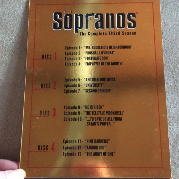 SEASON 3 THE SOPRANOS 📀 COMPLETE DVD SET